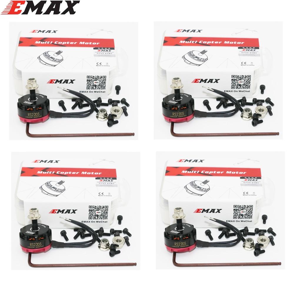 4 set/lot Emax RS2205 2300KV 2600KV de Motor sin escobillas CW CCW FPV Racing edición Motor para FPV Drone Quadcopter