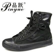 Все черные парусиновые туфли, уличные мужские армейские ботинки, рабочая и безопасная обувь, ботильоны на шнуровке, мужские мотоциклетные ботинки, большие размеры 36-46