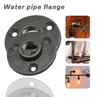 10Pcs 1/2 3/4 Cast Iron Flanges Thread Malleable Iron Industrial Pipe Fittings Exhaust Wall Mount Floor Flange Piece
