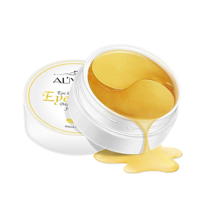 30 pairs Gold eye mask women Collagen gel whey protein face care sleep patches health mascaras de dormir