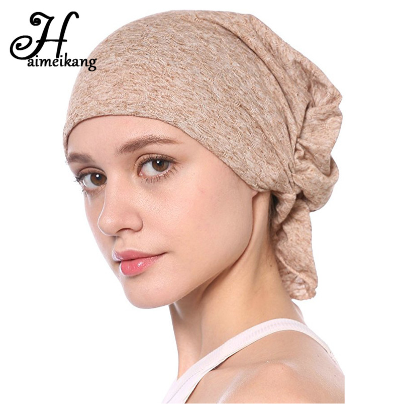 Haimeikang Breathable Women's Bubble Cotton Kerchief Chemo Cap Turban Headband   Headwear   for Women Hair Bands Accessories