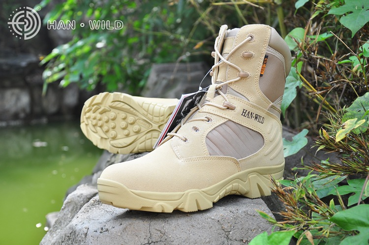 Spring, summer men desert camouflage military tactical boots men outdoor army combat their hiking boots