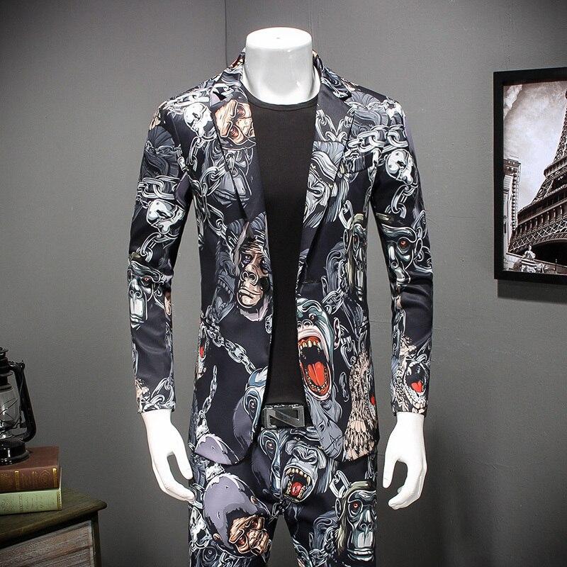 2018 Neue 3d Print Blazer Muster Phantasie Prom Jacke Für Männer Casual Party Prom Mens Stilvolle Blazer Jacke Männer Plus Größe 4xl Attraktive Designs;