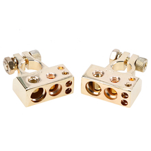 POSSBAY 1 Pair Car Battery Connector Terminal Clamp Metal Alloy Positive Negative Car Truck Auto Vehicle Parts Battery Terminals