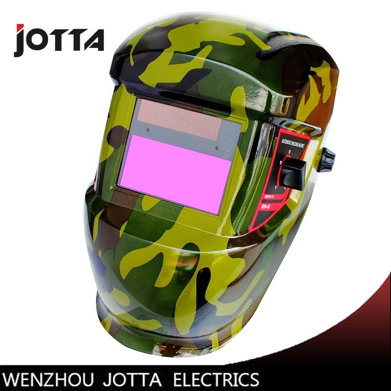 camouflage solar auto darkening filter welding mask helmet welder cap face mask for welding machine plasma cuting tool in Welding Helmets from Tools