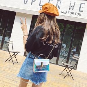 Image 5 - Sacs à main de mode sac Messenger sac à main en PVC sac à bandoulière design boucle sac à bandoulière laser