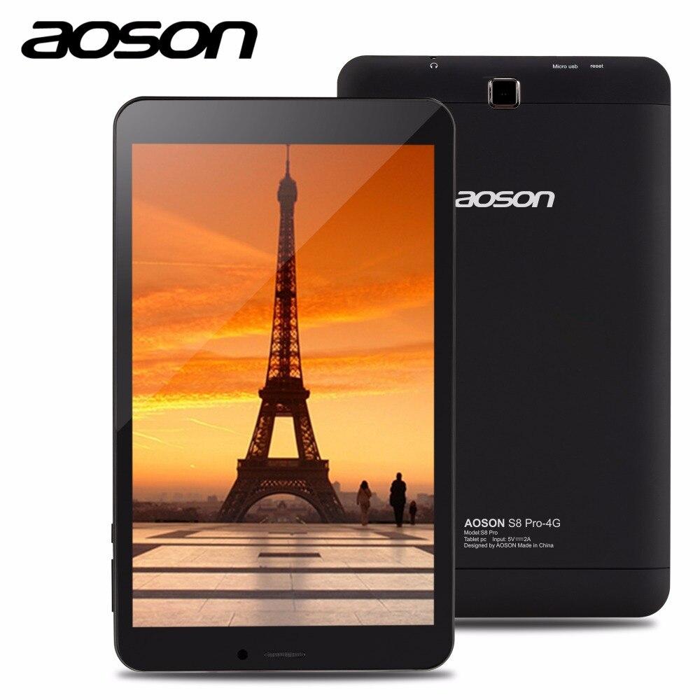 Бренд Aoson S8 Pro 8 дюймов 4 г Телефонный звонок Планшеты HD IPS 800*1280 Android 6.0 16 ГБ Встроенная память 1 ГБ Оперативная память sim GPS WI-FI Планшеты аксессуары