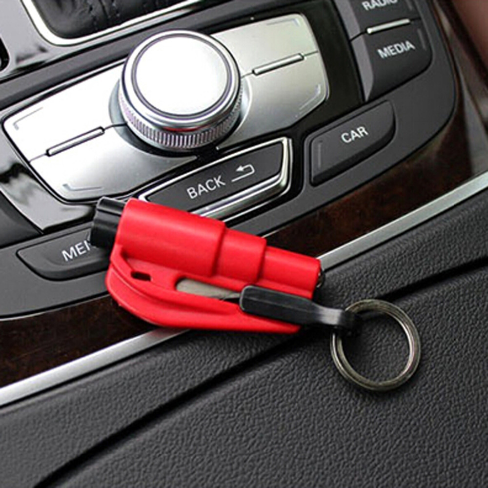 50Pcs Auto Car Glass Breaker Seat Belt Cutter Emergency Car Portable Hammer First Aid Rescue Kits Survival Escape Tool