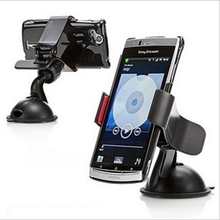 Fashion  360 degree Car Windshield Mount Cell Mobile Phone Holder Bracket Stands For iPhone 5 6 Plus Galaxy Note 2 3 S4 S5 GPS