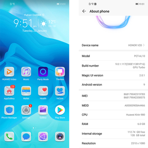 Image 3 - Original HONOR View 20 honor v20 6GB 128GB MobilePhone 6.4 inch Kirin 980 Octa Core Android 9.0 NFC 4000mAh