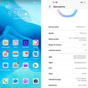 Image 3 - Originele Honor View 20 Honor V20 6 Gb 128 Gb Mobilephone 6.4 Inch Kirin 980 Octa Core Android 9.0 Nfc 4000 Mah