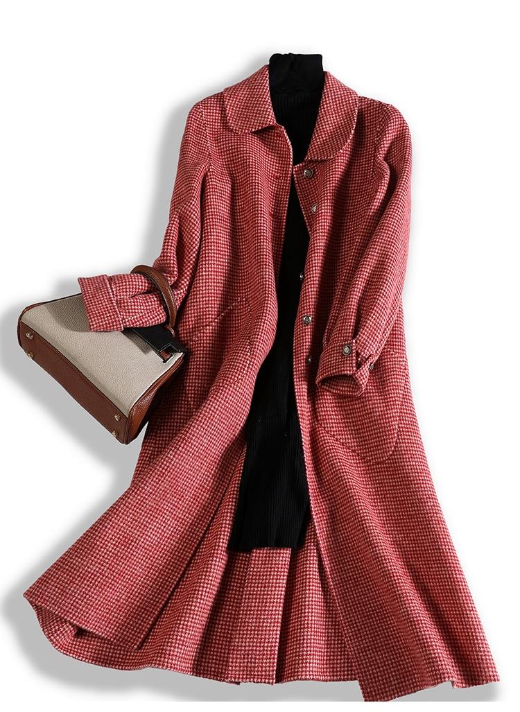Vêtements De Slim Lâche Femmes Longue D'hiver Veste Automne Femme Manteau Mode Laine Rouge rouge 2019 Imitation Et Nouvelle Caramel PqIwgn1