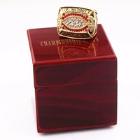 American 8 To 14 Size Red Crown Championship Ring Copy Ring And Ring Box Fan Gift
