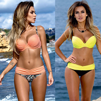 Bikini 2018 Sexy Bikini Set Swimsuit Women Brazilian Low Waist Bather Halter Top Push Up Bra