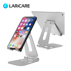 Laricare Tablet Accessories Tablet Phone Stand Stable Aluminium Anti-Slip Fold-able Mobile  Holder Metal Tablets Stand  LD-MS02