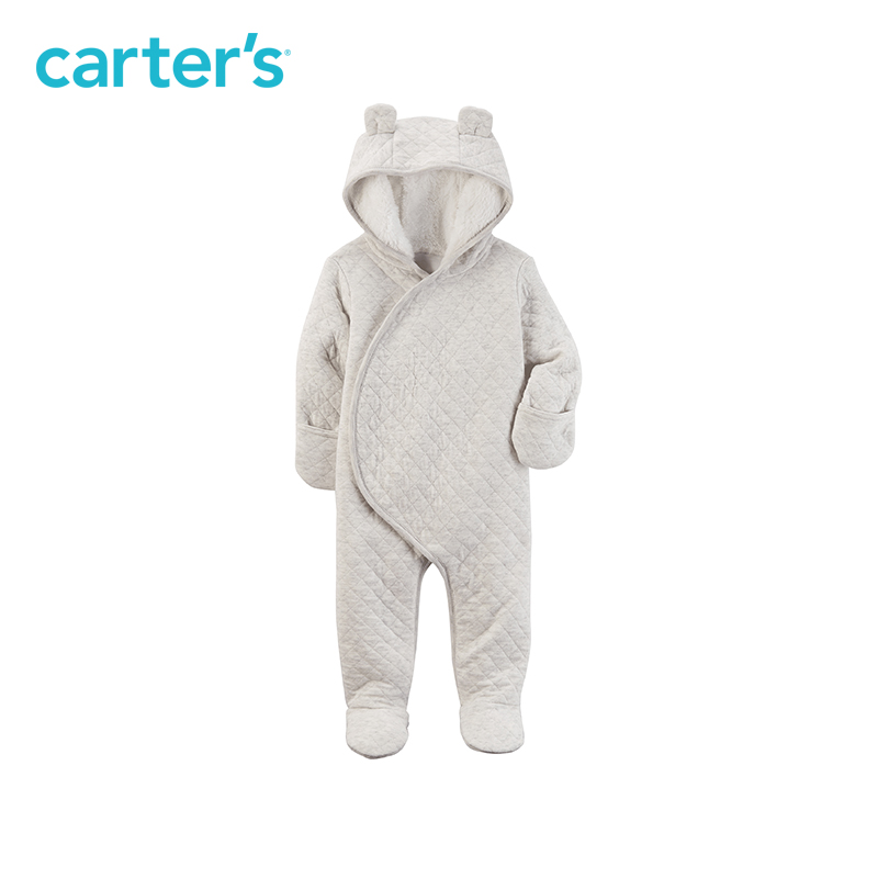 Carter's 1-Piece baby children kids clothing Boy Fall & Winter Sherpa-Lined Hooded Bunting 127G653 цены