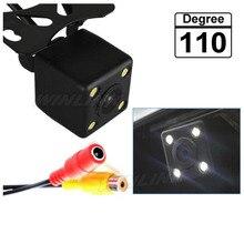 110 Grados Impermeable Universal HD CCD 4 LED de Visión Nocturna Cámara de Visión Trasera de Ayuda Al Aparcamiento