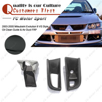 Car Accessories FRP Fiber Glass VS Style Oil Clean Guide & Air Duct 3pcs Fit For 2003 2005 Mitsubishi Evolution EVO 8