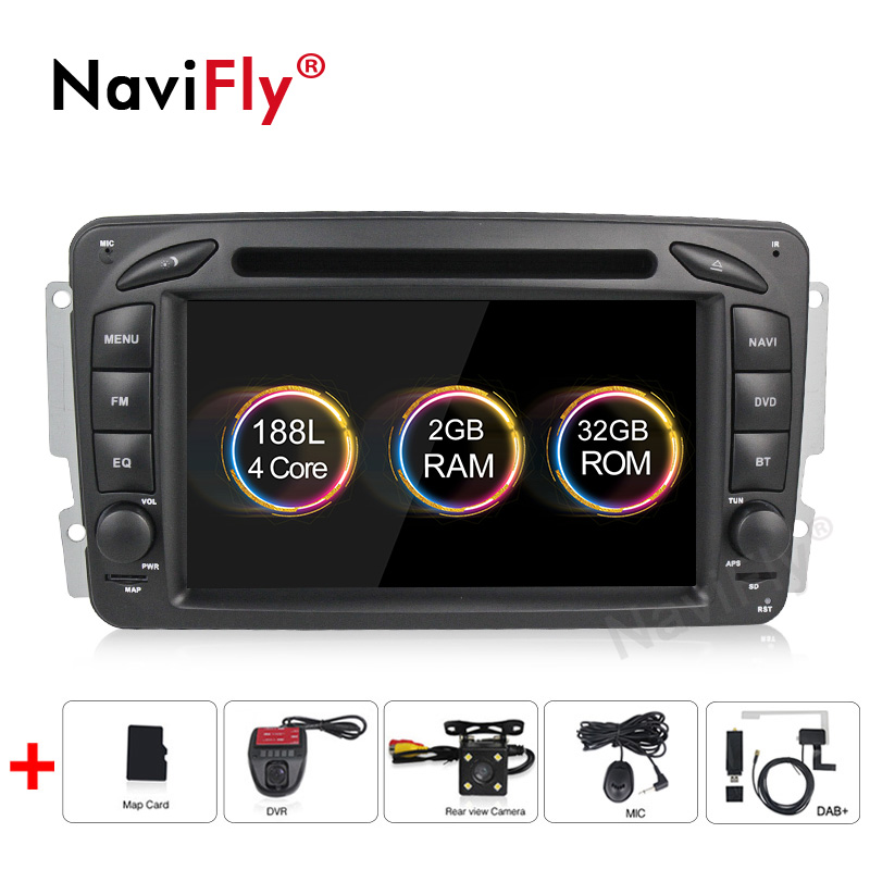 Navifly Android9.1 Support RDS TPMS DAB Carplayer Car DVD GPS Player for Mercedes Benz W209 W203 W463 Viano W639 Vito with 4G
