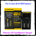 Original Nitecore D2 Digcharger Pantalla LCD Nitecore Cargador Cargador de Batería Para 26650 18650 18350 16340 14500 10440