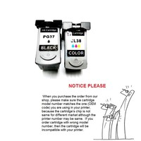 YOTAT 1set Remanufactured ink cartridge PG 37 CL 38 PG37 CL38 for Canon PIXMA IP1800 IP2500 IP2600 MP140 MP210 MP470 MX300