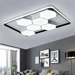 Biały/czarny minimalistyczna sztuka nowoczesne lampy sufitowe LED do salonu lighs sypialnia Foyer okrągłe/kwadratowe lampy sufitowe LED 110V/220V