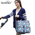 Insular fashion multifunctional newborn baby mother mama nappy bags backpack stroller diaper bag tote set organizer for mom