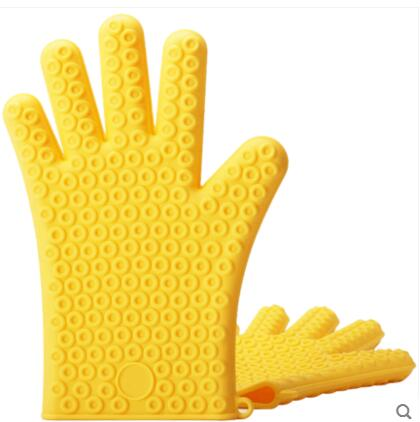 thickened anti scalding gloves Insulated baking oven gloves Five Finger Silicone Oven Mitts High Temperature Kitchen Tool