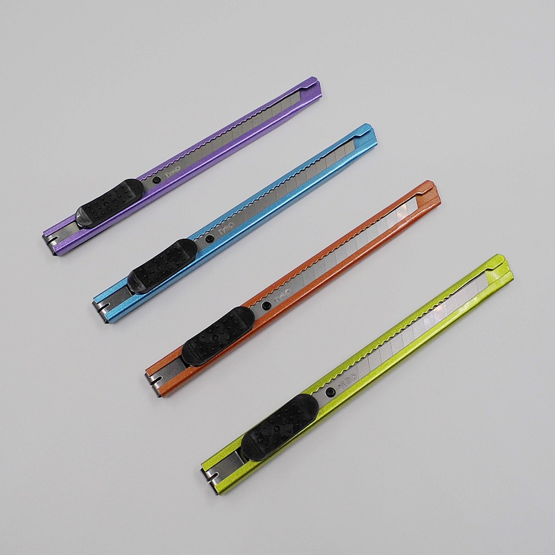 [Deli] (4 Pieces/Lot) High Quality School Office Supplies 4 Color Metal Utility Knife Mini Letter Paper Cutter No.2066