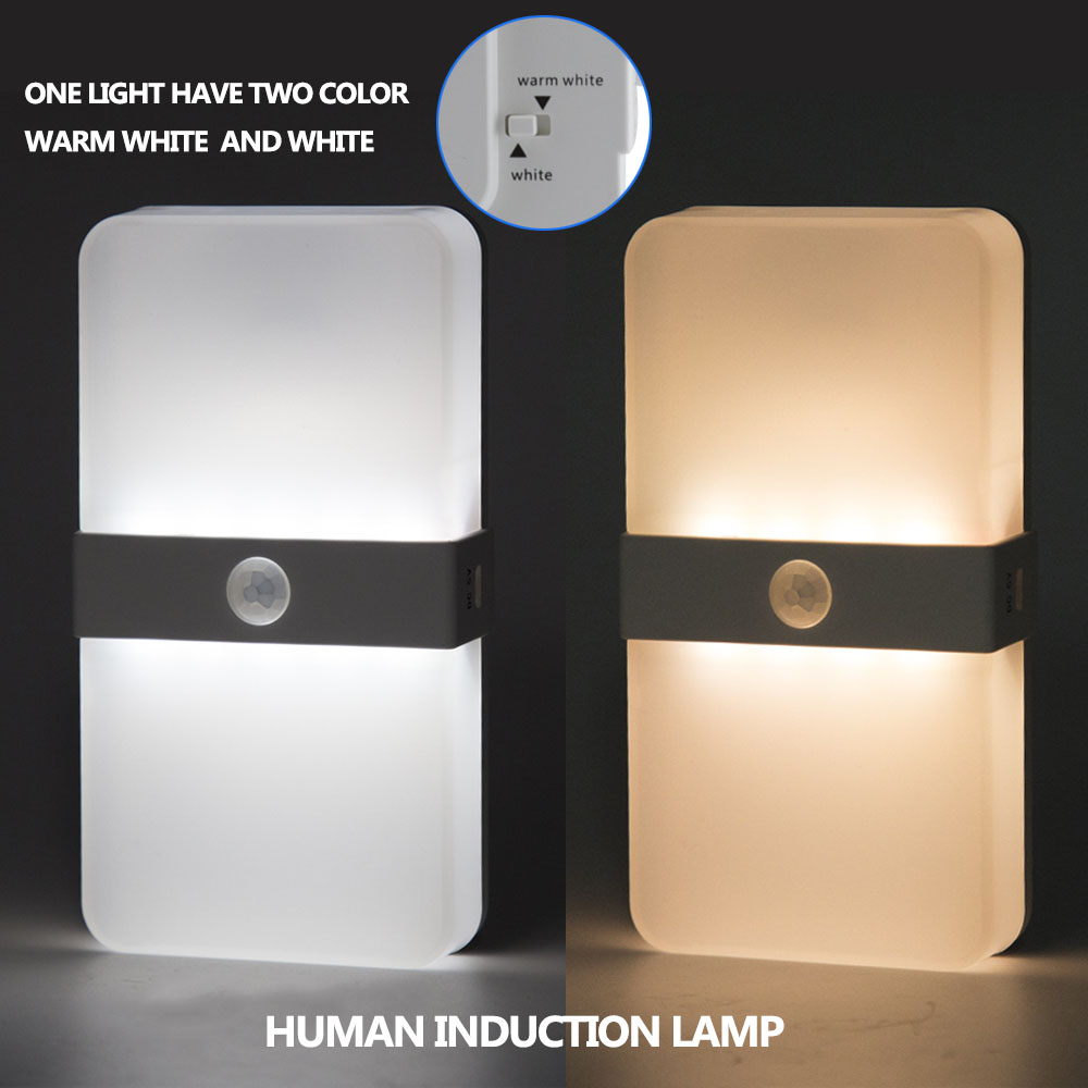 Us 13 94 33 Off Auto On Motion Sensor Wall Light Closet Battery Ed Wireless Cabinet Ir Infrared Detector Lamp In Led