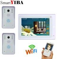 SmartYIBA 7inch White Monitor Wired Wireless Wifi IP Video Door Phone Doorbell Intercom 720P WIFI Doorbell