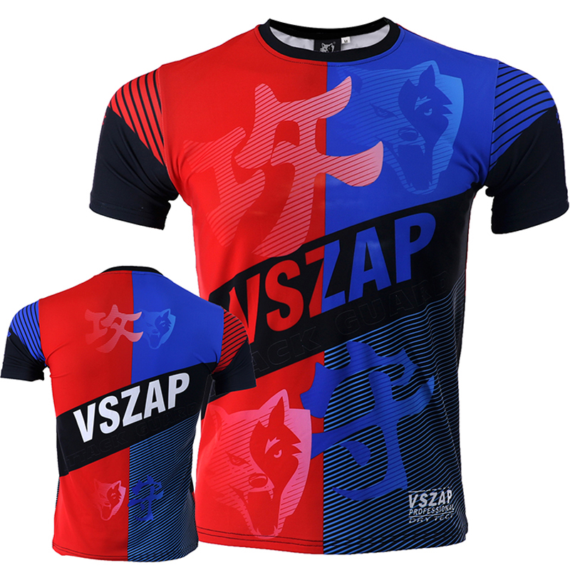 VSZAP Model Offensive And Defensive Fast-Drying T-shirt Health Clothes Males's MMA Stretch UFC Combating Out of doors Jogger T-shirt T-Shirts, Low cost T-Shirts, VSZAP Model Offensive And Defensive Fast...