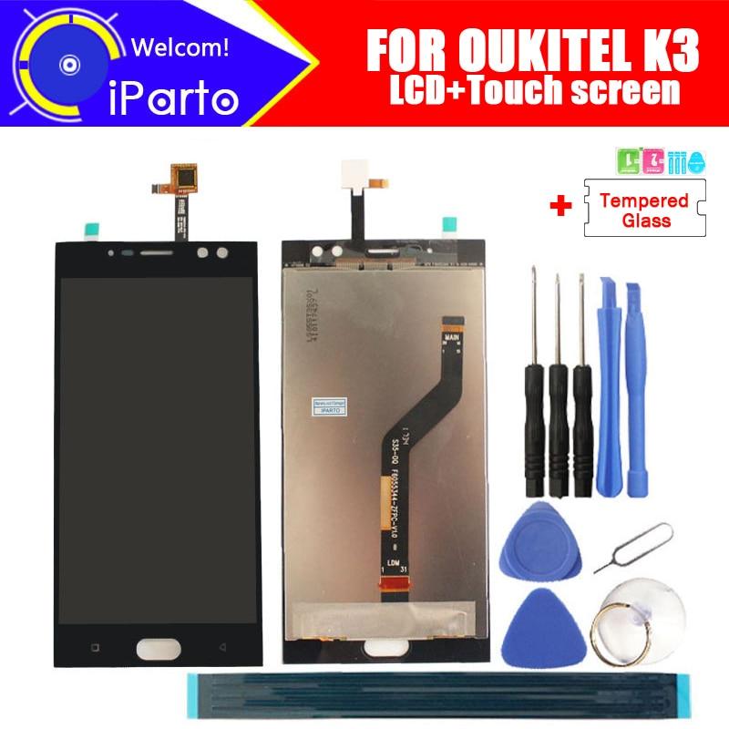 5,5 zoll Oukitel K3 LCD Display + Touch Screen Digitizer Montage 100% Original Neue LCD + Touch Digitizer für Oukitel k3 + Werkzeuge