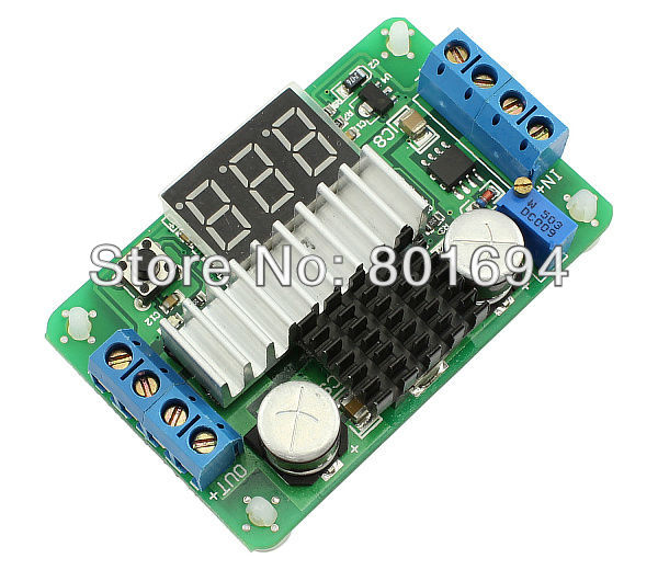 цена на 100W DC-DC Boost Converter 3.5V-30V 6A Step-up Voltage Power Supply Module with Red LED Display Voltmeter