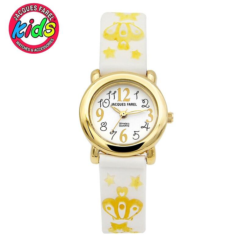 JACQUES FAREL Kids Children watches fashion cute simple waterproof Quartz Wristwatches Girls C