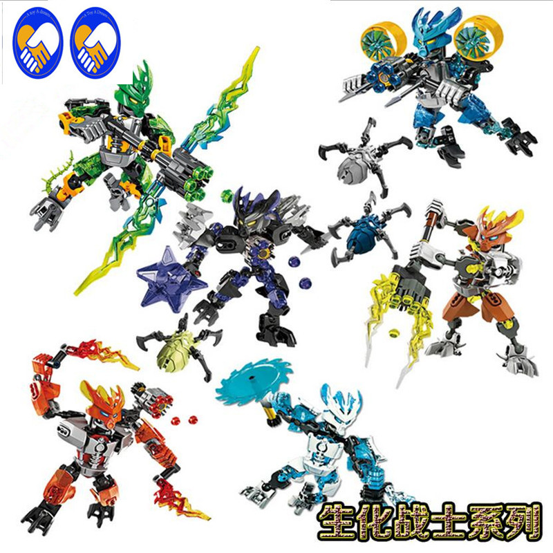 A Toy A Dream BIONICLE series XSZ 706 jungle Rock Water Earth Ice Fire protecto action Building Block Compatible With Lepin цена