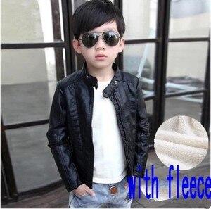 Image 5 - ילדים חדשים עור מעיל אופנה תינוק ילד מעיל Manteau Enfant Garcon ילדים מעיל 6CT105