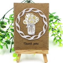 Flower Vase Transparent Clear Silicone Stamp