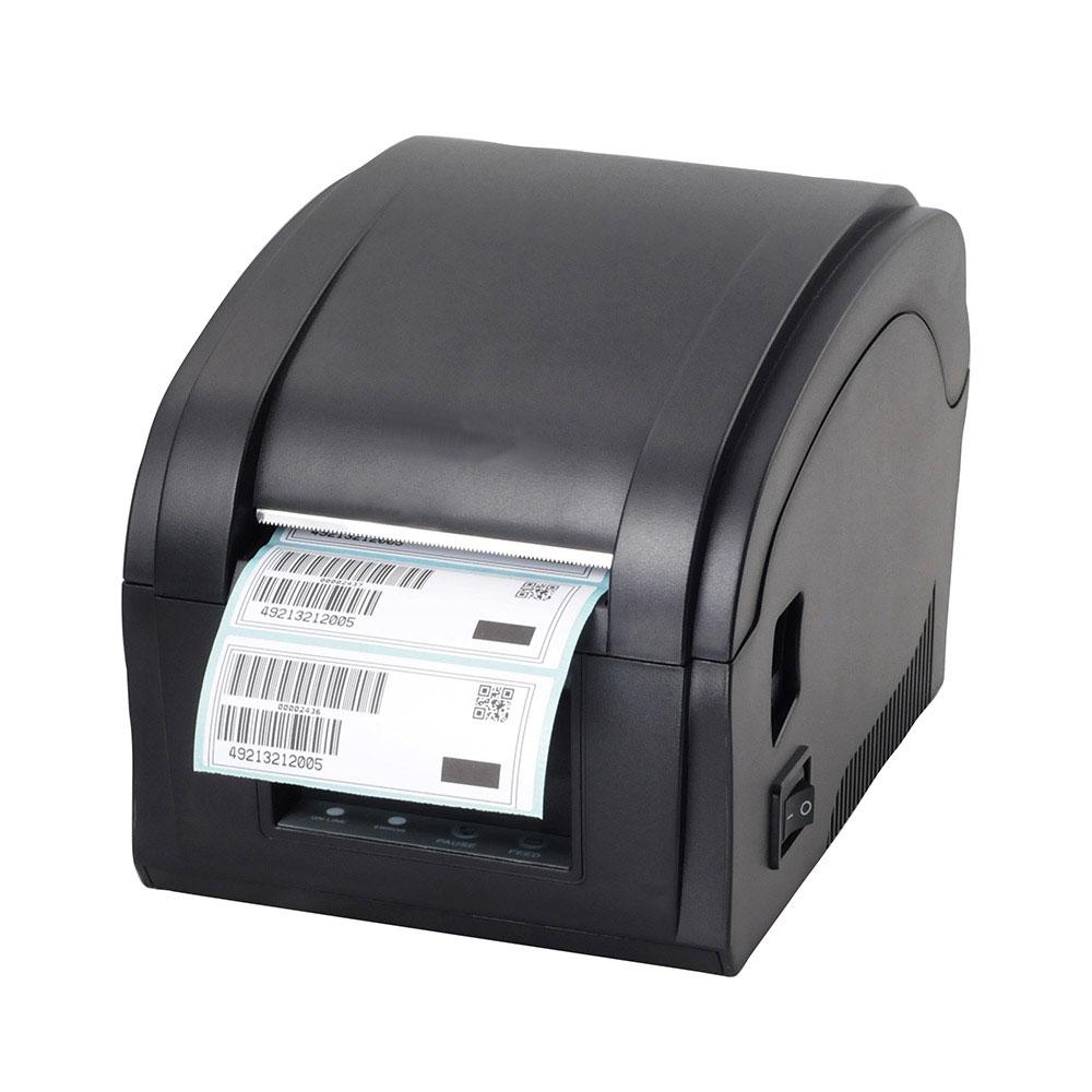 Imprimante d'étiquettes d'imprimante de code barres d'imprimante d'autocollant thermique de port d'usb de haute qualité pour des bijoux, magasin de thé de lait