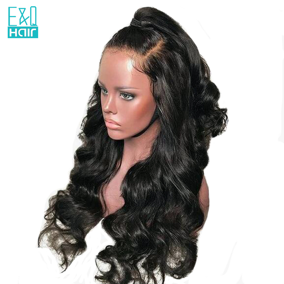 250 Density 360 Lace Frontal Wigs Natural Black Color With Baby Hair Indian Remy Lace Front