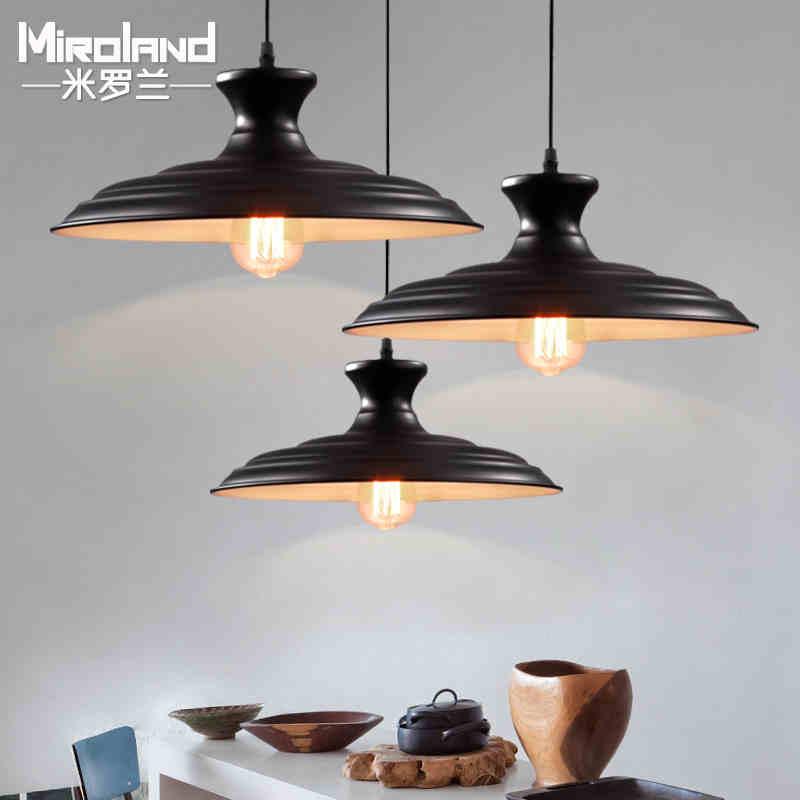2016 new Nordic retro American Loft Iron diameter 36 cm single head Pendant lamp  Restaurant Industry wind style ligting коврики в салон kia mohave 2009