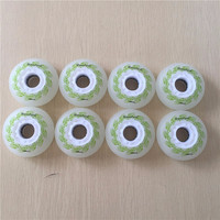 4pcs Roller Skate Color Shine Wheels 85A Hardness Wearing LED Flash Shining Inline Skate Wheels With
