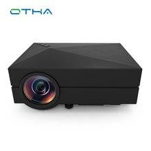 GM60 1000 Lúmenes MINI LED Proyector De Juegos de Vídeo HD TV Ayuda de la Película de Cine En casa HDMI VGA SD AV Proyector Portátil Negro