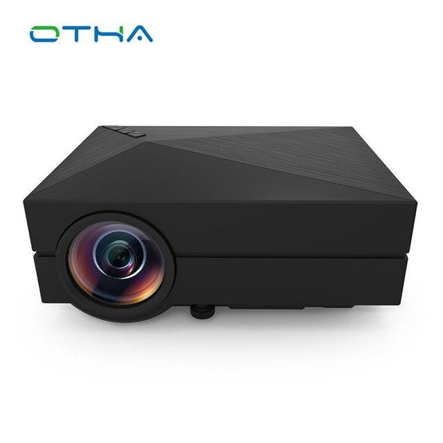 OTHA GM60 1000 Lumen Mini HA CONDOTTO il Proiettore HD Per Video Games Home Theater TV Movie Supporto HDMI VGA AV SD Portatile Proyector