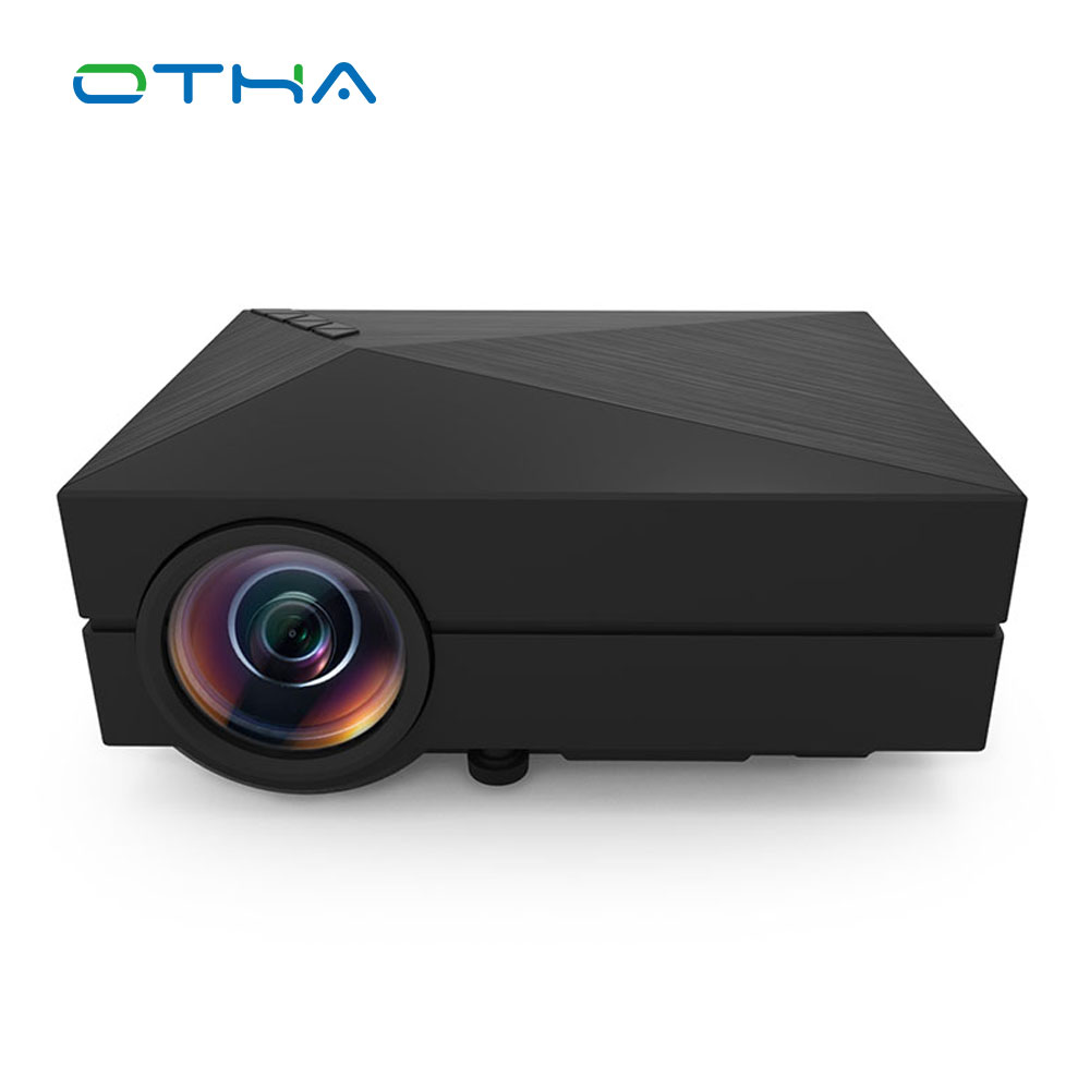 OTHA GM60 1000 Lumens Mini LED Projector For HD Video Games TV Home Theater Movie Support HDMI VGA AV SD Portable Proyector