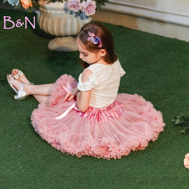 Baby Girls Princess Tutus Skirt Child Ballet Dance Tutus Ruffle Pettiskirt Dance Wear Party Clothes For Children girls tiered ruffle hem flare skirt