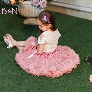 1f432e4b9 DE melocotón nuevo lazo bebé niñas tutú falda esponjosa niños Ballet  Pettiskirt niños niño ...
