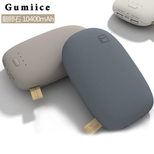 Gumiice One sale ABS case stone appearance  external battery pack Real capacity 10400mAh power bank 3 colors