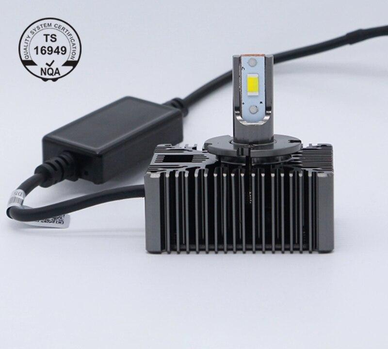 D1S D2S D3S D4S D5S LED Bulb Super Bright Car Headlight Bulbs 72W 8000Lm Same Size