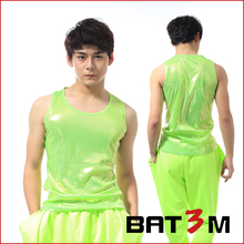 Fashion personality all-match men's clothing ds male neon green vest basic costumes